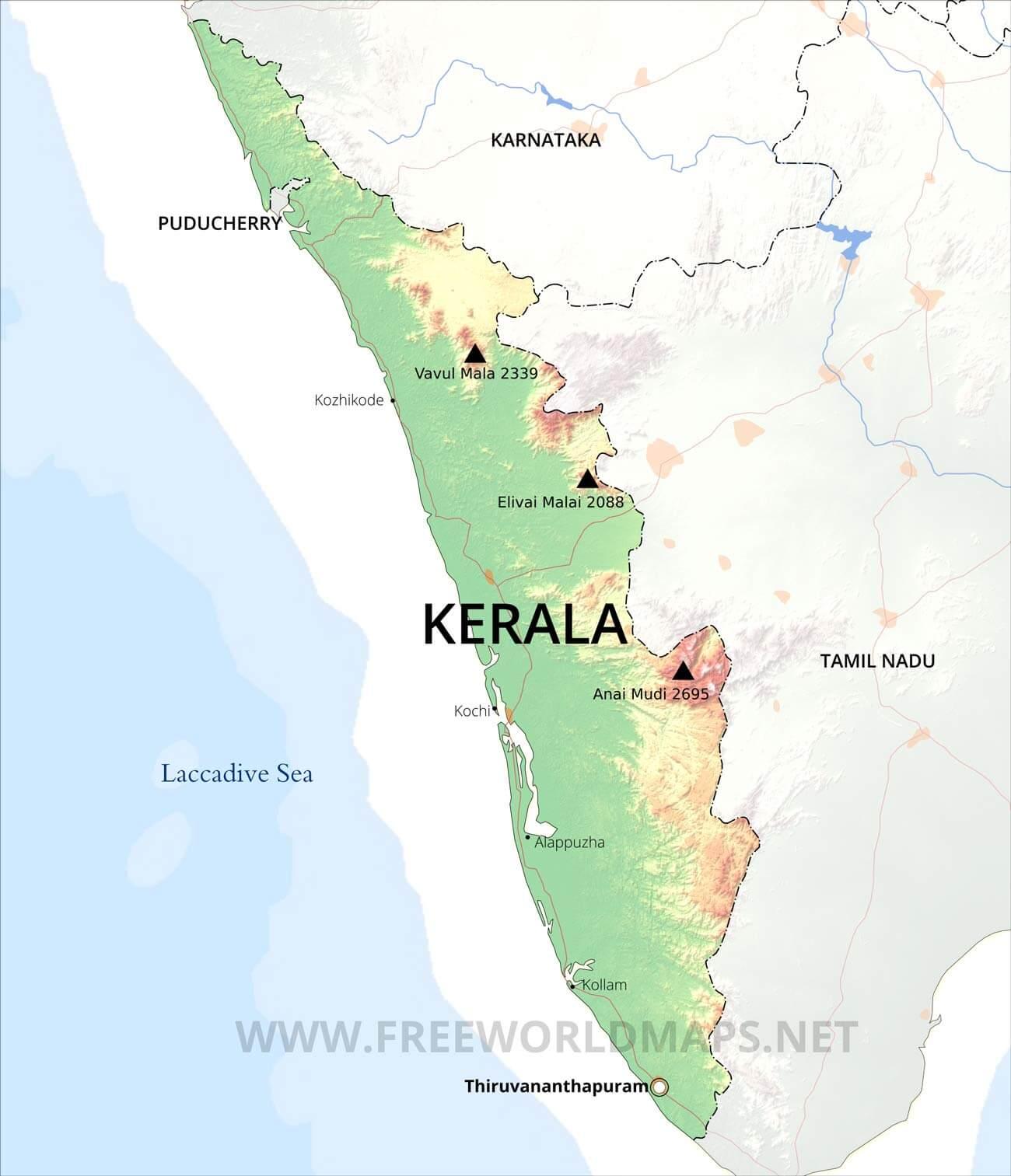 kerala maps