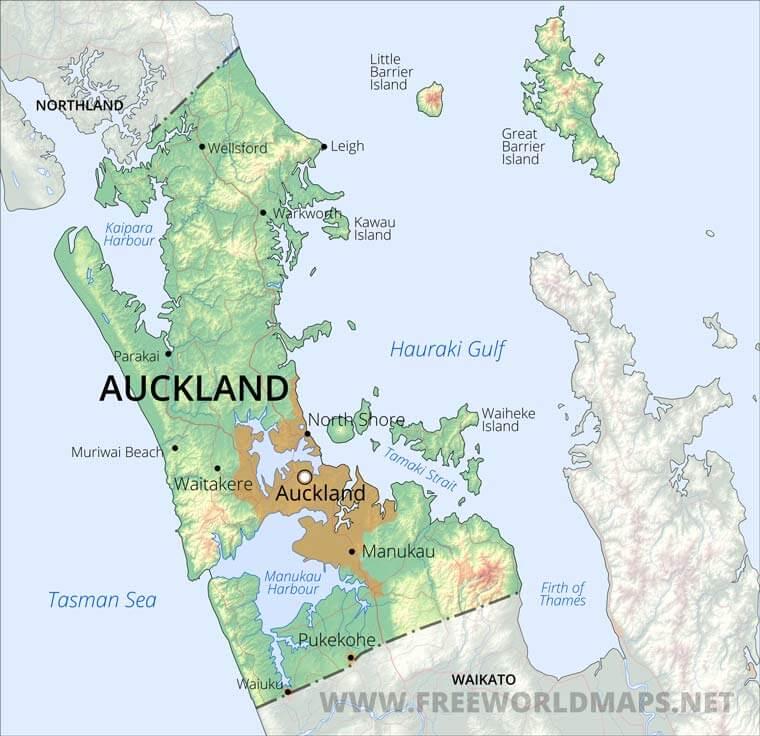 Auckland Region Maps, NZ